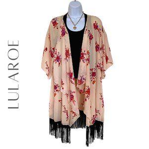 LULAROE Monroe Kimono / Cover Up, Large